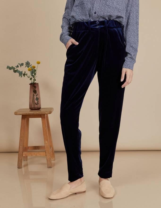 Alef Alef | אלף אלף - בגדי מעצבים | מכנסי Katya נייבי
