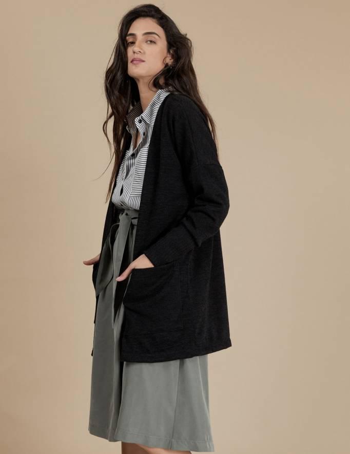 Alef Alef | אלף אלף - בגדי מעצבים | עליונית Bessie | שחור