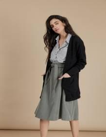 Alef Alef   אלף אלף - בגדי מעצבים   עליונית Bessie   שחור