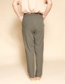 Alef Alef | אלף אלף - בגדי מעצבים | מכנסי Brown זית טקסטורה
