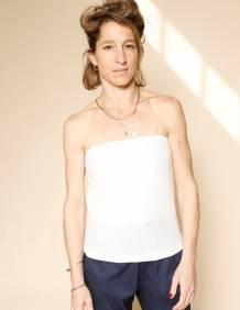Alef Alef | אלף אלף - בגדי מעצבים | גופית Fein שמנת נצנץ