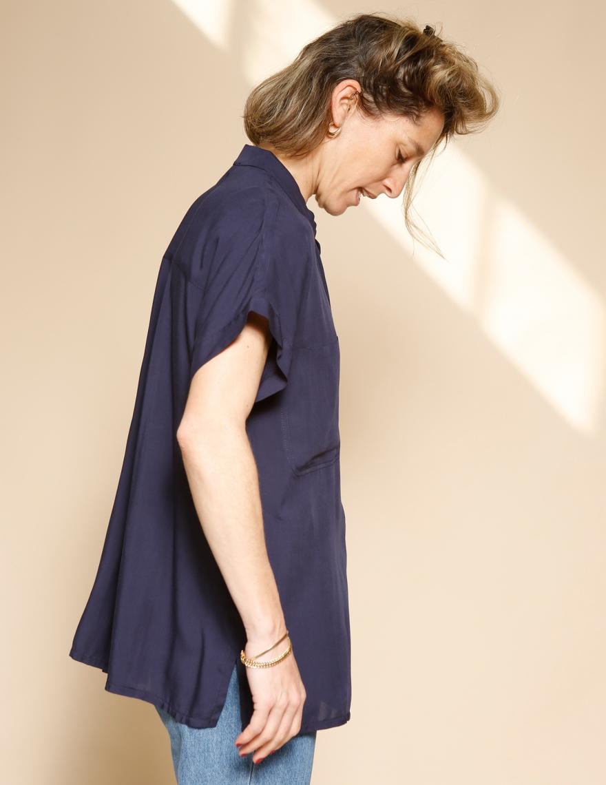 Alef Alef | אלף אלף - בגדי מעצבים | חולצת Mann נייבי