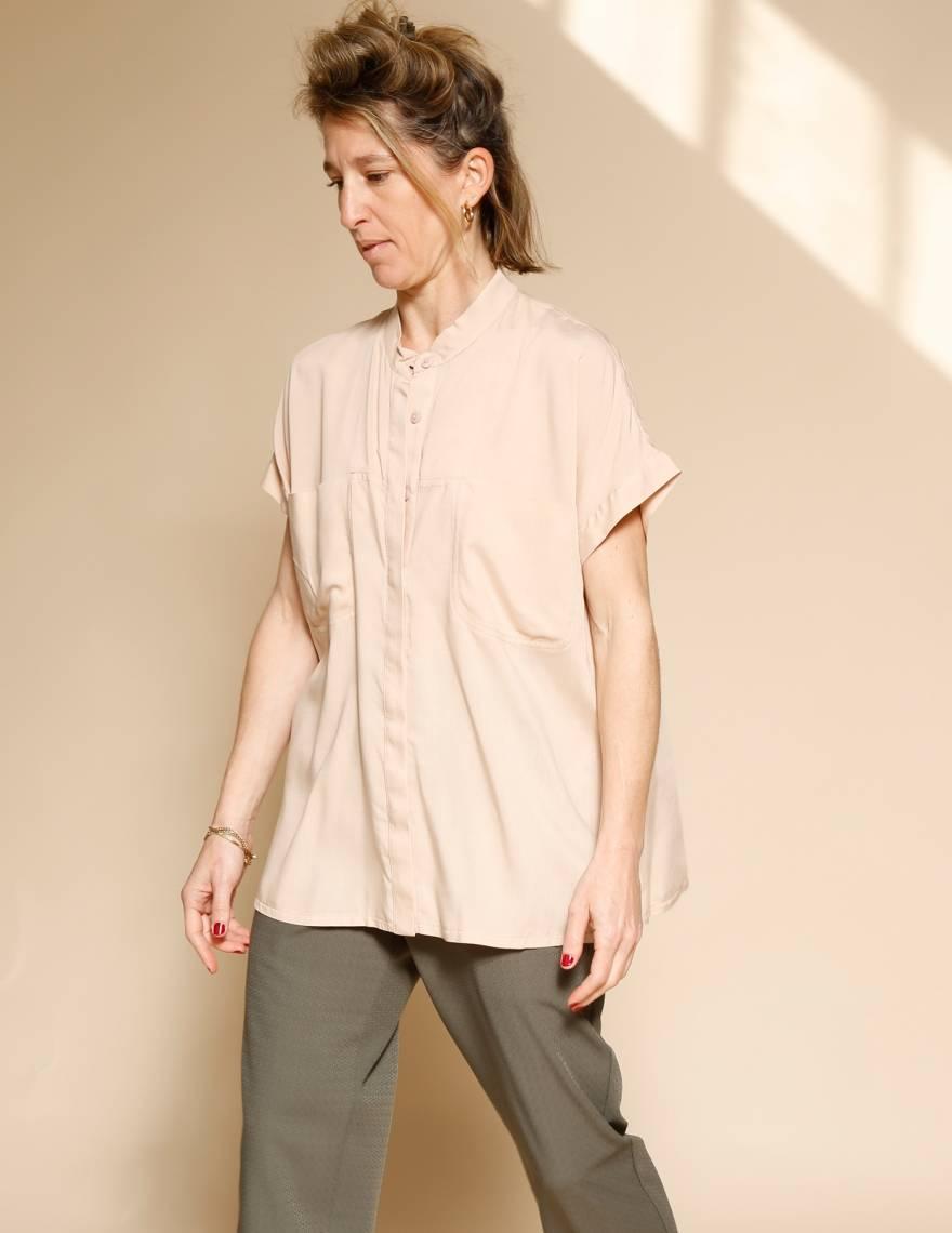 Alef Alef   אלף אלף - בגדי מעצבים   חולצת Mann פודרה