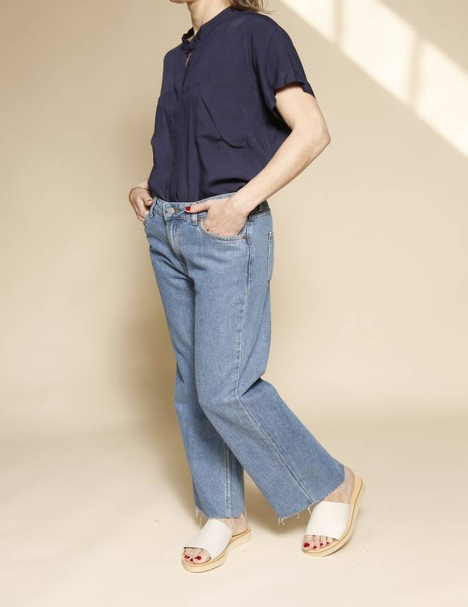 Alef Alef | אלף אלף - בגדי מעצבים | Dr Denim ג'ינס Cadell כחול קלאסי