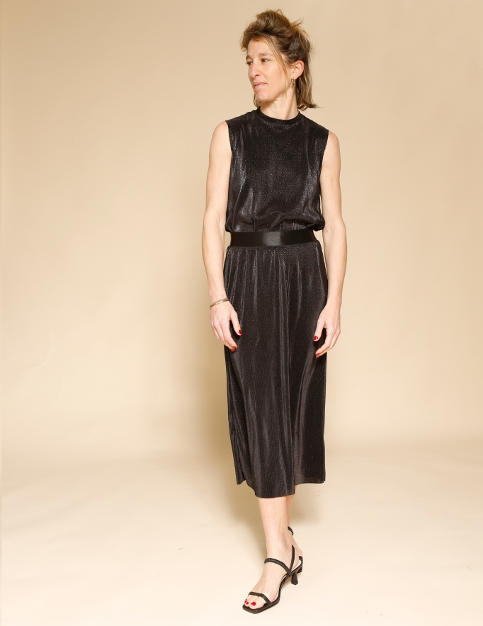 Alef Alef | אלף אלף - בגדי מעצבים | חצאית Rosen שחור נצנץ