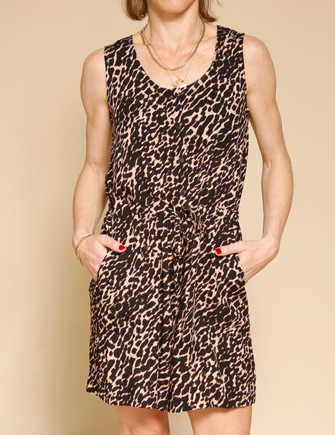 Alef Alef | אלף אלף - בגדי מעצבים | אוברול WAXMAN פודרה דפוס שחור