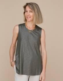 Alef Alef   אלף אלף - בגדי מעצבים   גופית LEVY ירוק נצנץ