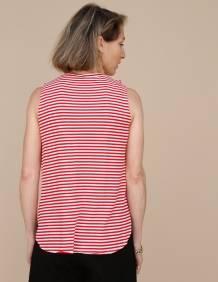 Alef Alef | אלף אלף - בגדי מעצבים | גופית LEVY פסים אדום לבן