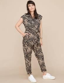 Alef Alef | אלף אלף - בגדי מעצבים | אוברול Shalev פודרה דפוס שחור