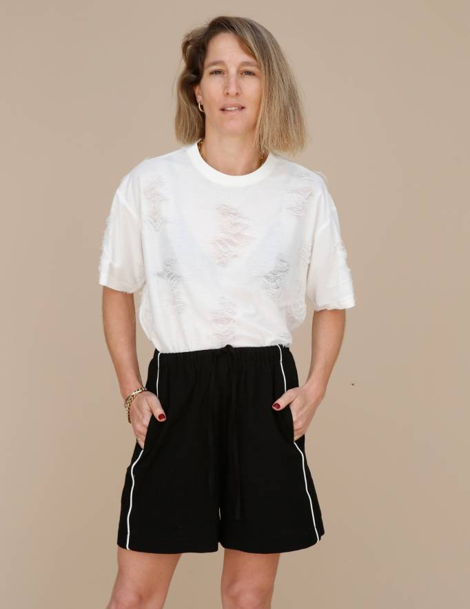Alef Alef | אלף אלף - בגדי מעצבים | מכנסי Giladi שחור / לבן