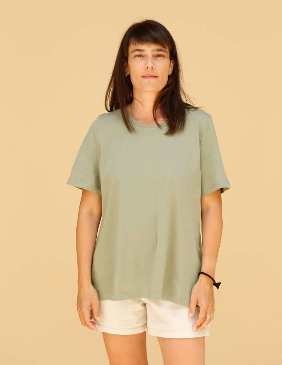 Alef Alef | אלף אלף - בגדי מעצבים | חולצת Cohen ירוק יער