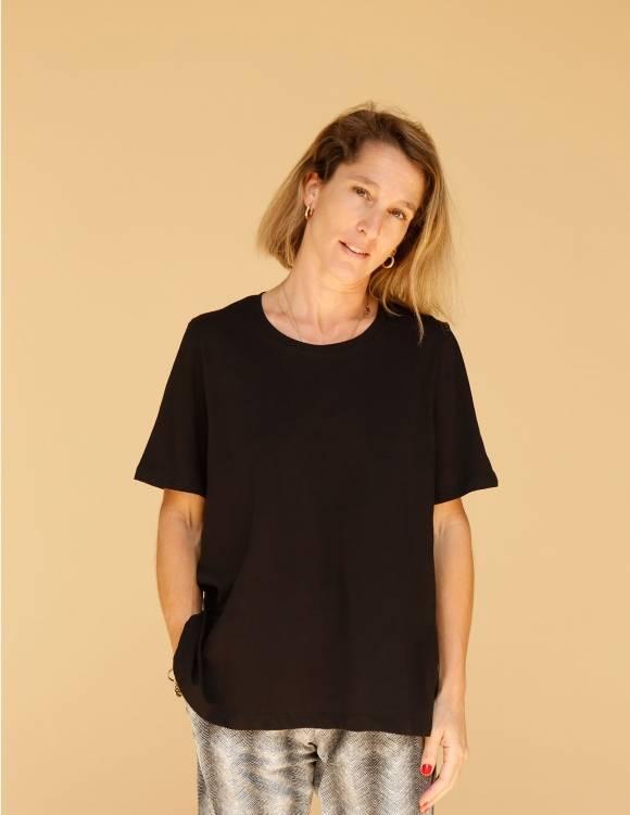 Alef Alef | אלף אלף - בגדי מעצבים | חולצת Cohen שחור