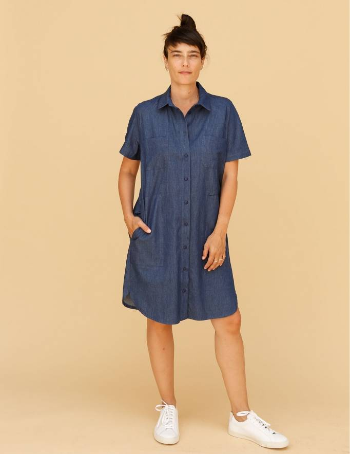 Alef Alef | אלף אלף - בגדי מעצבים | שמלת Damari ג'ינס