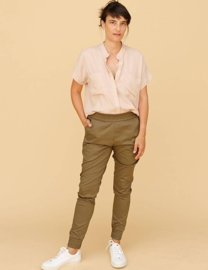 Alef Alef | אלף אלף - בגדי מעצבים | מכנסי Dayan זית