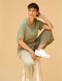 Alef Alef | אלף אלף - בגדי מעצבים | מכנסי Tzadok ירוק זית