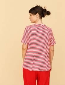 Alef Alef | אלף אלף - בגדי מעצבים | חולצת Cohen פסים אדום לבן