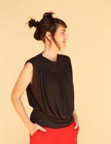 Alef Alef | אלף אלף - בגדי מעצבים | חולצת Gafni שחור