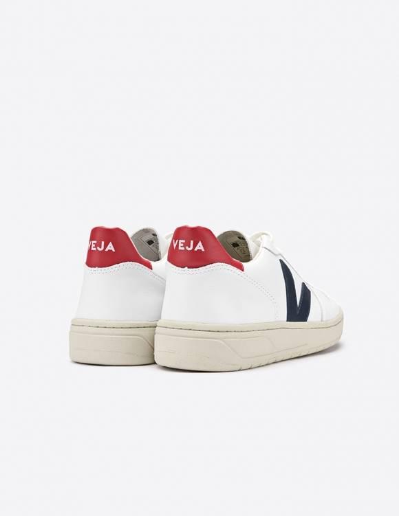 Alef Alef | אלף אלף - בגדי מעצבים | סניקרס // Veja V10 / לבן אדום נייבי