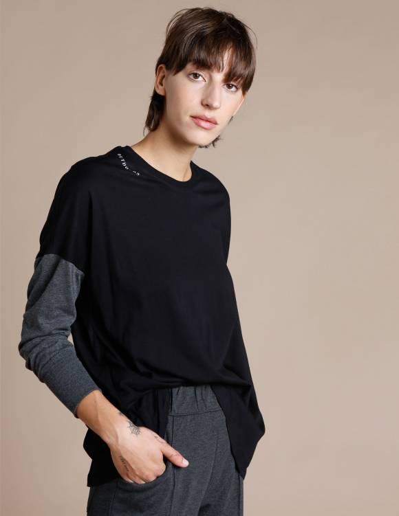 Alef Alef | אלף אלף - בגדי מעצבים | חולצת Lincoln שחור/אפור