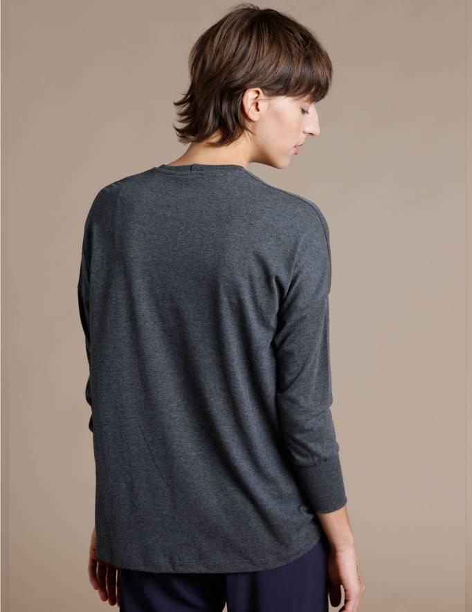 Alef Alef | אלף אלף - בגדי מעצבים | חולצת Lincoln אפור מלאנז'