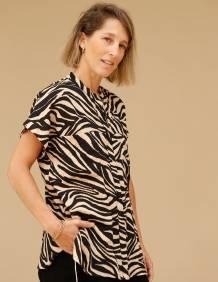 Alef Alef | אלף אלף - בגדי מעצבים | חולצת Mann מנומר פודרה