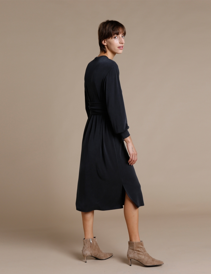 Alef Alef | אלף אלף - בגדי מעצבים | שמלת Carmel שחור פחם