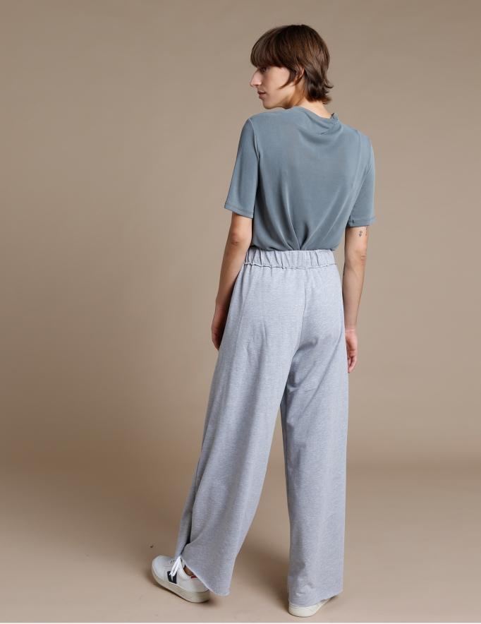 Alef Alef | אלף אלף - בגדי מעצבים | מכנסי Roy אפור מלנז'