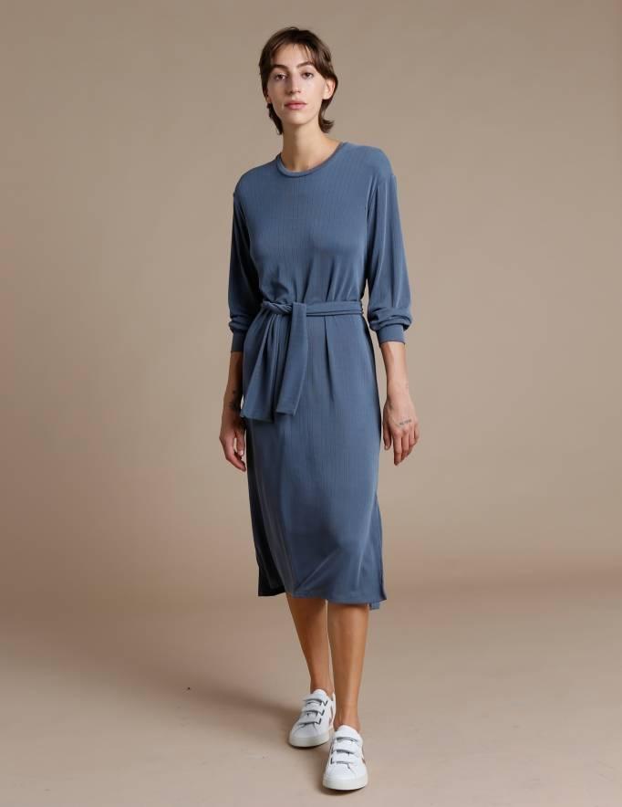 Alef Alef   אלף אלף - בגדי מעצבים   שמלת Carmel פלדה