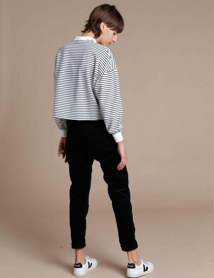 Alef Alef | אלף אלף - בגדי מעצבים | Dr Denim / Nora - Black Corduroy