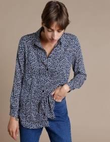 Alef Alef | אלף אלף - בגדי מעצבים | חולצת Tavor כחול פרחים
