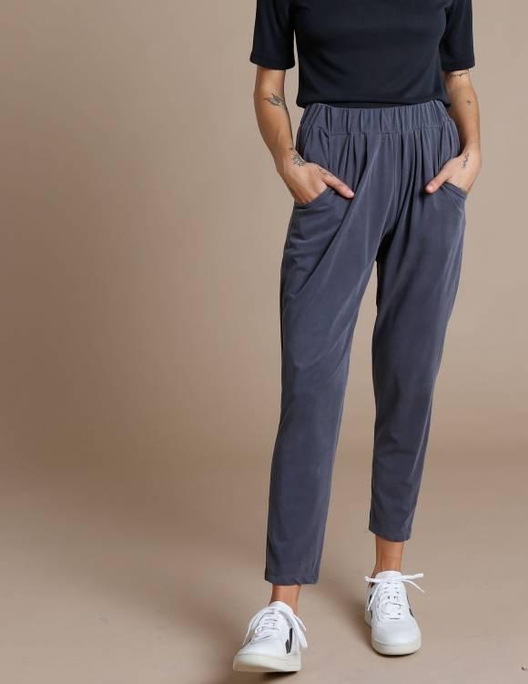 Alef Alef   אלף אלף - בגדי מעצבים   מכנסי Tenenbaum אפור כהה
