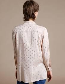 Alef Alef | אלף אלף - בגדי מעצבים | חולצת Tavor פודרה דפוס זהב
