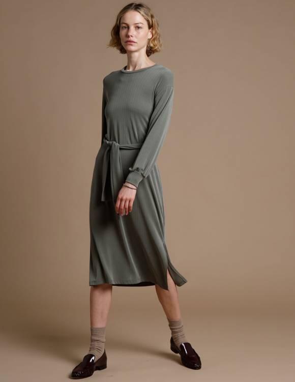 Alef Alef | אלף אלף - בגדי מעצבים | שמלת Carmel זית