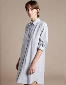 Alef Alef | אלף אלף - בגדי מעצבים | שמלת Fuji  אפור פרינט