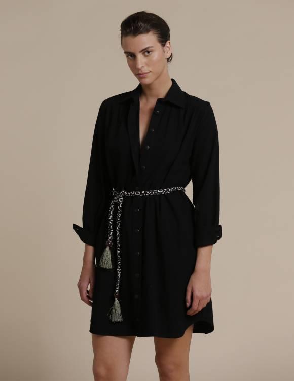 Alef Alef | אלף אלף - בגדי מעצבים | שמלת Fuji שחור