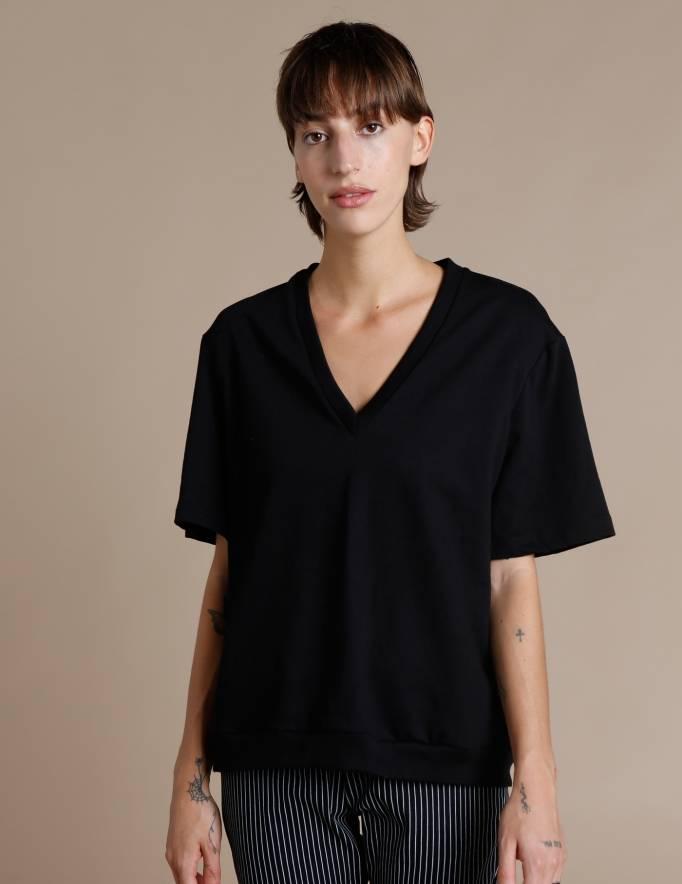 Alef Alef   אלף אלף - בגדי מעצבים   חולצת Cook שחור