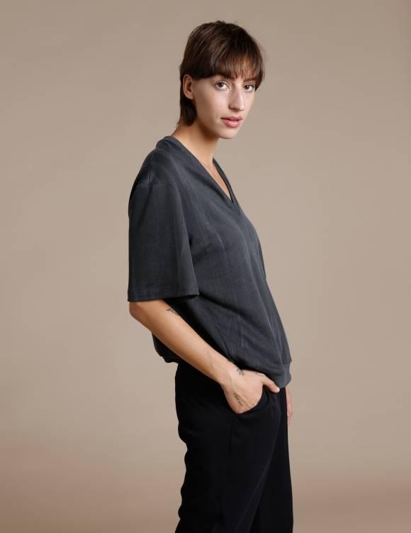 Alef Alef | אלף אלף - בגדי מעצבים | חולצת Cook אפור ווש