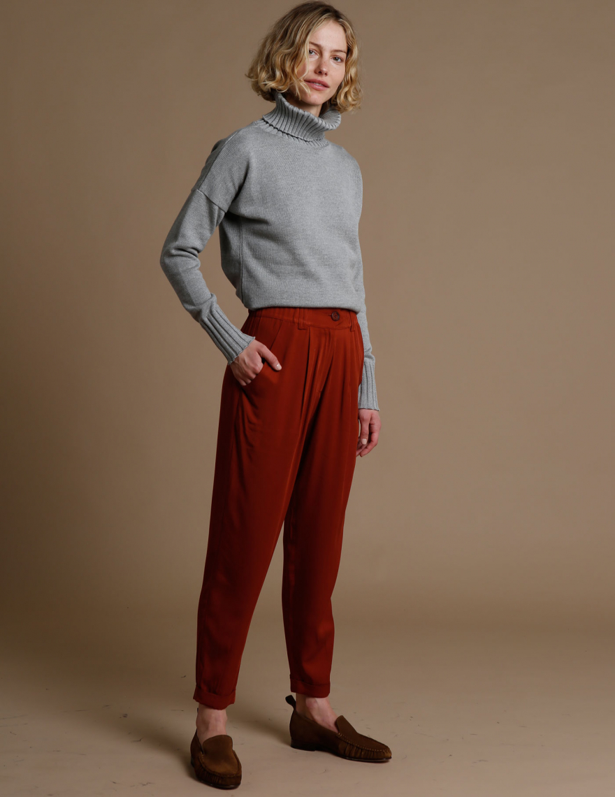 Alef Alef | אלף אלף - בגדי מעצבים | מכנסי Hermon בריק