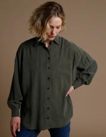 Alef Alef | אלף אלף - בגדי מעצבים | חולצת Table ירוק כהה