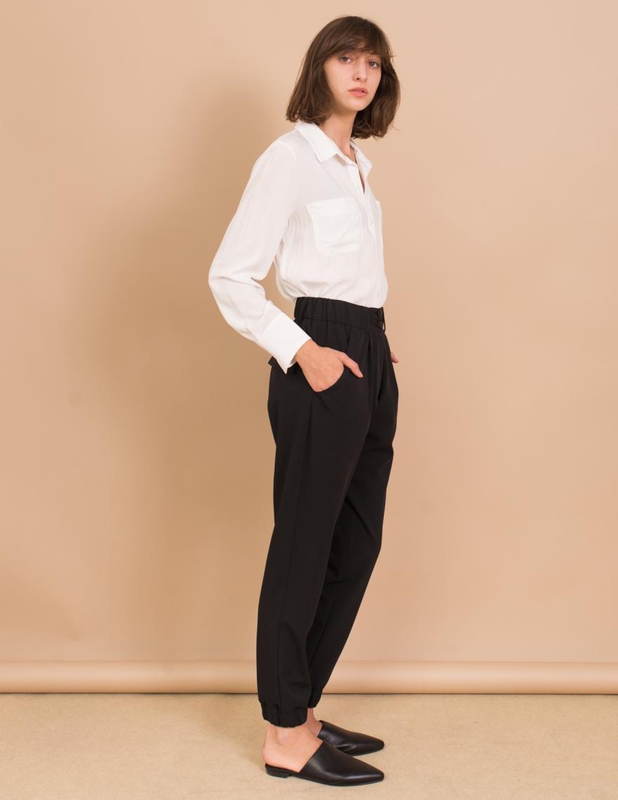 Alef Alef   אלף אלף - בגדי מעצבים   מכנסי Sony שחור