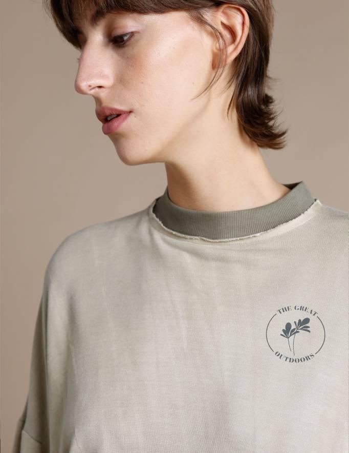 Alef Alef | אלף אלף - בגדי מעצבים | סווטשרט FITZ חאקי