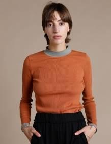Alef Alef   אלף אלף - בגדי מעצבים   חולצת Bona מוסקט/ אקליפטוס