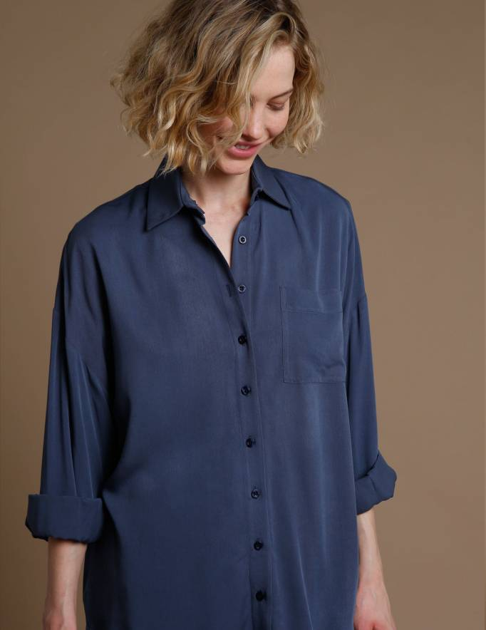Alef Alef | אלף אלף - בגדי מעצבים | חולצת Table נייבי