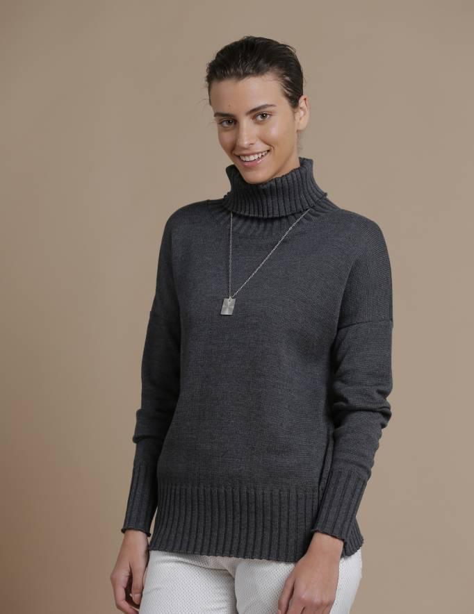 Alef Alef | אלף אלף - בגדי מעצבים | סוודר Ararat אפור כהה