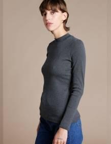 Alef Alef | אלף אלף - בגדי מעצבים | חולצת Bona אפור כהה