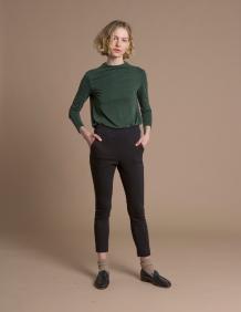 Alef Alef   אלף אלף - בגדי מעצבים   מכנסי Rocky שחור