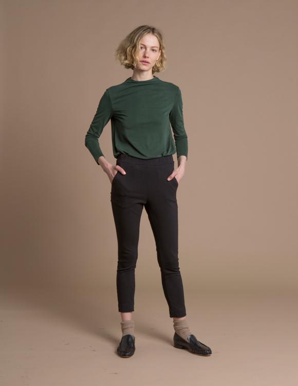 Alef Alef | אלף אלף - בגדי מעצבים | מכנסי Rocky שחור