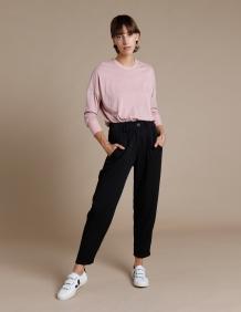 Alef Alef | אלף אלף - בגדי מעצבים | מכנסי Hermon שחור