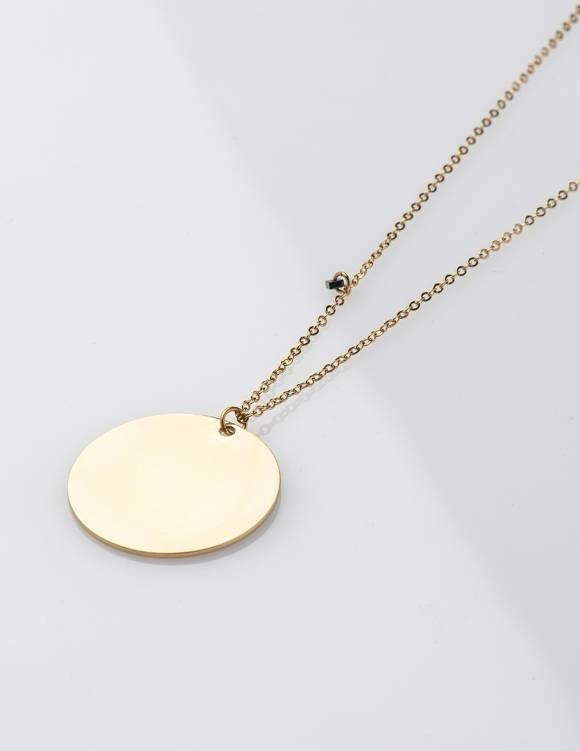 Alef Alef | אלף אלף - בגדי מעצבים | EFF JEAN – שרשרת זהב ארוכה עם תליון עגול