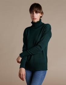 Alef Alef | אלף אלף - בגדי מעצבים | סוודר Ararat ירוק בקבוק
